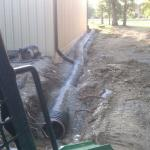 French Drain we installed for Roof Products Inc.